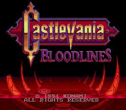 Castlevania: Bloodlines (AKA Castlevania: The New Generation, Vampire Killer)