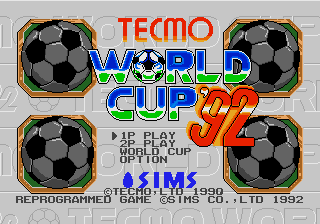 Tecmo World Cup (AKA Tecmo World Cup '92)
