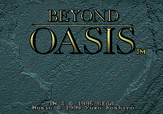Beyond Oasis (AKA The Story of Thor)