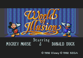 World of Illusion Starring Mickey Mouse & Donald Duck Beta